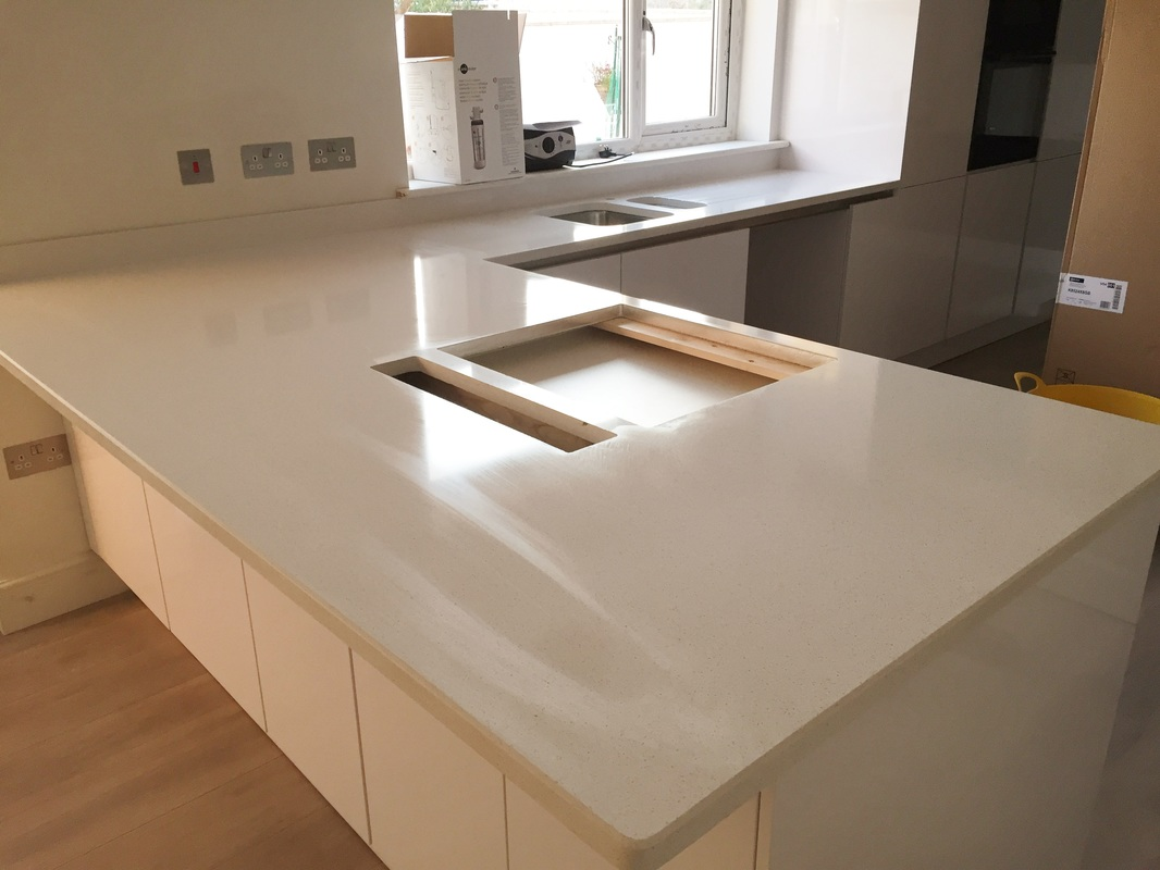 Blanco maple silestone wales the marble warehouse - Silestone blanco city ...