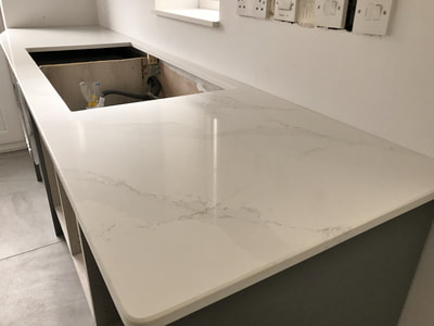 Eternal Calacatta Gold Silestone Worktops Wales THE