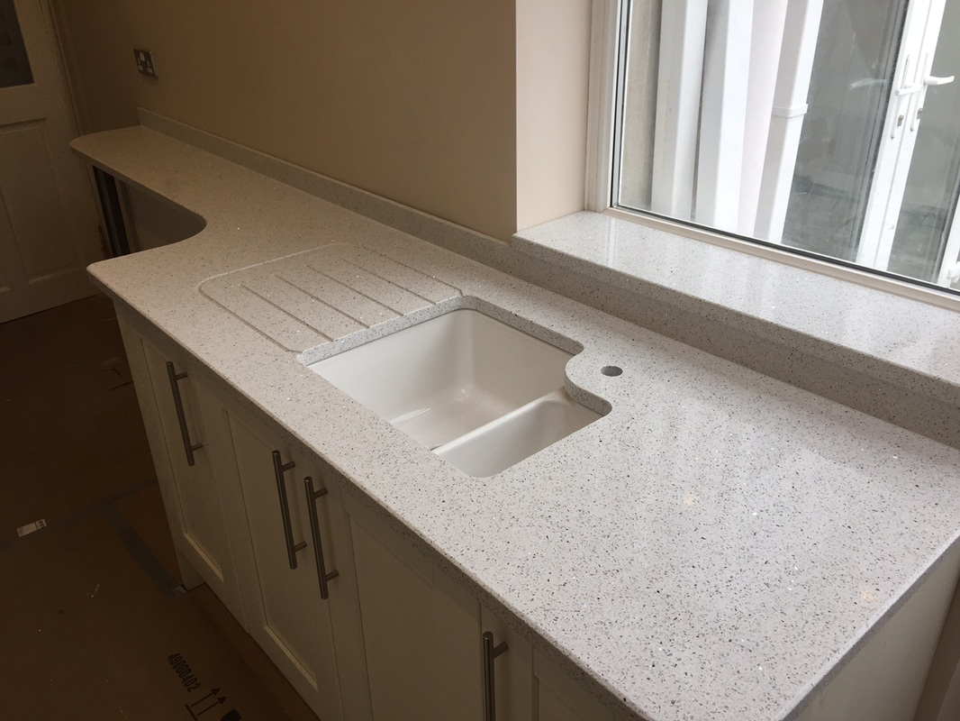 Stellar Blanco Silestone Quartz Worktops The Marble