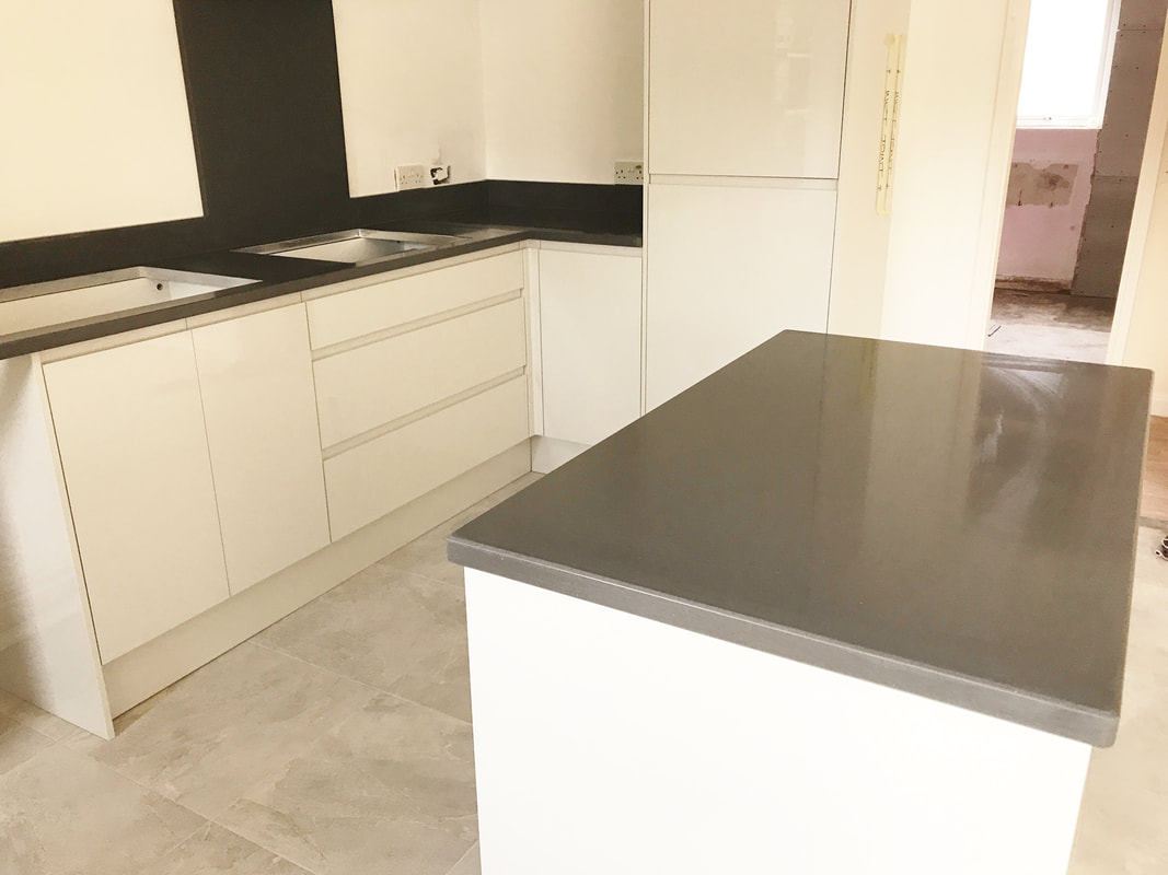 Installation Of Marengo Silestone Worktops In Newport 22nd August 2017