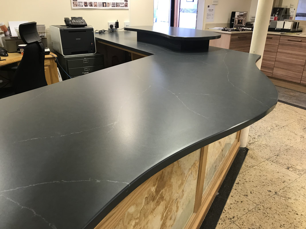 Charcoal Soapstone Silestone Worktops Wales The Marble